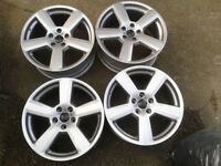"AUDI 18"" RS6 REPLICA ALLOYS 5X112PCD A3 A4 A6 VW MK5 MK6 MK7 GOLF T4 PASSAT"