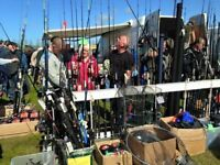 Fishing tackle and boating equipment at the Kent Boat Jumble Sunday 1st Oct