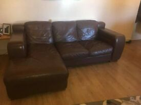 Leather L shaped sofa - good clean condition and very comfy. any questions just ask :-)