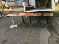 Very heavy bar tables / cafe tables with cast iron bottoms £35 delivered