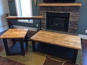 Reclaimed wooden coffee table, end table and console table