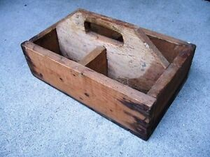 Vintage Small Wood Box w/ Dividers