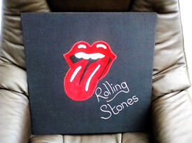 """""""ROLLING STONES"""" APPLIQUE WALL HANGING."""