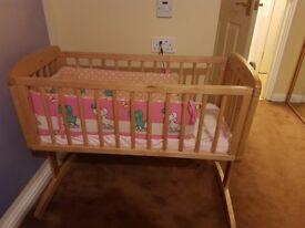 Solid Wood Swing Crib