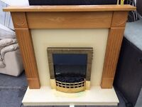 ELECTRIC FIRE WITH FULL SURROUND IN PERFECT WORKING ORDER Free delivery local Absoulute bargain