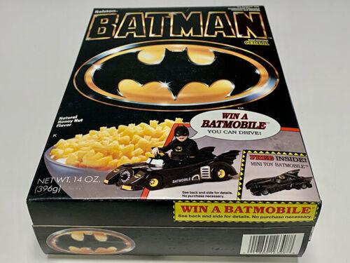 1989 BATMAN CEREAL BOX UNOPENED CEREAL INSIDE