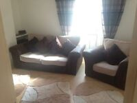 SOFA & CHAIR, DOUBLE BED, TABLE & CHAIRS NEED GONE ASAP