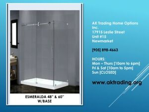 VANITIES-SHOWER STALLS [includes, glass, hardware & base]