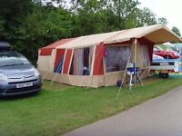 Conway Cardale Trailer Tent 4-8 Berth. With kitchen unit and some equipment.
