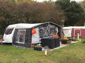 Lunar Quasar 524 2004 caravan with all weather awning - currently sited near Wem