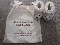 Sew Heart Felt sheep slippers with bag