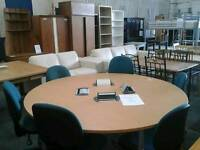 Meeting table with retractable power points and x 6 chair