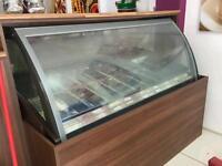 Commercial Gelato 18 pot ice cram display