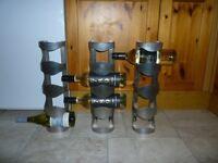 IKEA VURM 4-bottle metal wine racks x 3