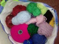 Bag of odd balls of wool