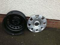 "15"" unused VW Bora rims and hub caps"