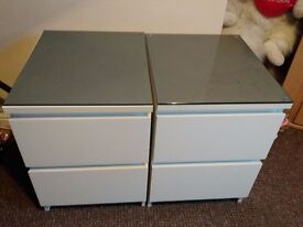 two bedside tables excellent condition