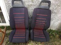 Ford Escort XR3 seats