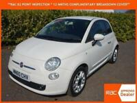 2010 60 Fiat 500 SPORT IN WHITE ONLY 33,000 MILES STUNNING CAR ! TOP SPEC