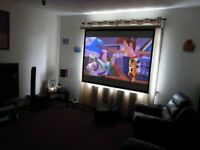 Electronic Projector Screen With Remote - £70
