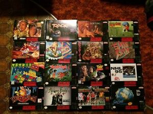 complete / boxed super nintendo snes video games