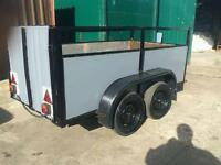 Twin wheel trailer for quads bikes r work