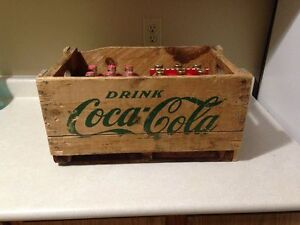 Rare 1964 Coca Cola Bottle case & 1989 Full coca cola bottles