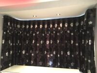Lovely Black and Silver Curtains