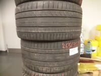 Continental Contact 5 Sport 255x35 R18 Tyres Pair No repairs 4,5mm
