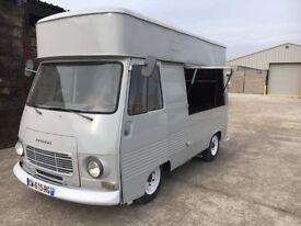 Stunning vintage Peugeot J7 street food or catering truck/van