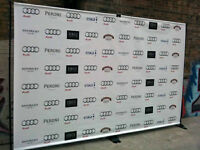 Event, step repeat Backdrop banner