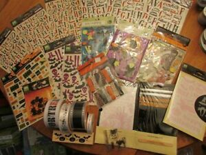 Halloween paper crafting stamps and embellishments BNIP!