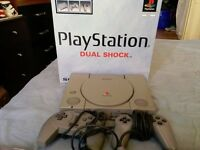 PlayStation 1 Console - 4 Games - 2 Controllers - Comes With Original Box!