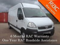 2008 Tidy Vauxhall Movano 3500 with Full PSV