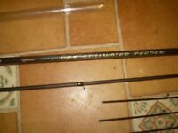 Drennan DRX Stillwater Feeder Rods 11'6 matching pair 8 tips very good cond