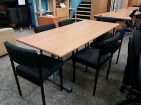 Rectangular Meeting Table With Six Chairs