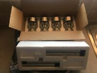 4 X larger Crystal Colour Changing Solar Lights- No wiring Needed- Brand New In Box