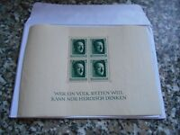 """Third Reich Commemorative Issues - 1937 souvenir sheet issued for Adolf Hitler""""s Birthday"""