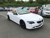 Bmw 645 convertible white Automatic