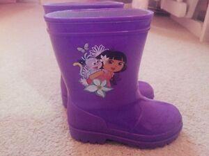 Dora rain boots - toddler