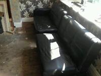 Leather sofa black free