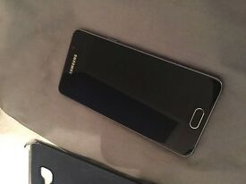 Unlocked Samsung A3 (2016) mobile phone with case and original box