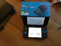 Boxed Nintendo 2DS XL Turquoise and black AND Mario Party star Rush Game