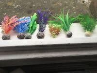 7 fake plants - Fish tank