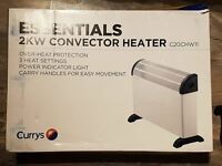 brand new in box currys convector heater