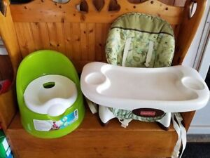 Safety 1st Potty & Fisher Price Space saver Highchair