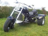 Yamaha XJR 2010 custom trike 1300 cc very low mileage