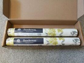 2 rolls of Sanderson Wisteria Wallpaper, brand new in packaging RRP £86!!!