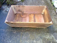 Home made Wooden, planter,herb,flower garden trough, made with Fence panels.