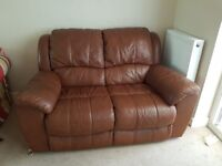 Sofa - Two seater leather.